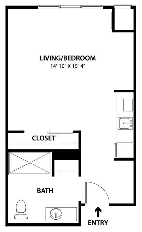AL - Floor Plan - Studio